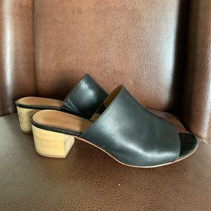 Madewell black leather mules
